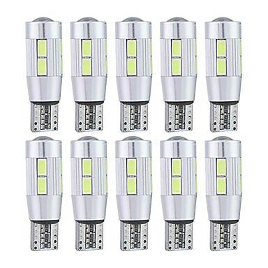 voordelige Motorverlichting-10 stuks T10 Motor / Automatisch Lampen 5 W SMD 5630 10 LED Nummerplaatverlichting / Achterlicht / Zijmarkeringslichten Voor Universeel Alle jaren