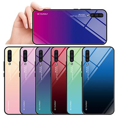 voordelige Galaxy A-serie hoesjes / covers-hoesje Voor Samsung Galaxy Galaxy A7(2018) / A7 (2017) / A8 2018 Spiegel Achterkant Kleurgradatie Hard Gehard glas