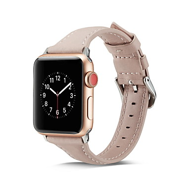 رخيصةأون أساور ساعات هواتف أبل-حزام إلى أبل ووتش سلسلة 5/4/3/2/1 Apple الفرقة التجارية جلد طبيعي شريط المعصم