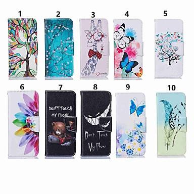 voordelige iPhone 7 hoesjes-hoesje Voor Apple iPhone 11 / iPhone 11 Pro / iPhone 11 Pro Max Portemonnee / Kaarthouder / Flip Volledig hoesje Vlinder / Boom / Bloem PU-nahka