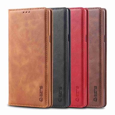 Недорогие Чехлы и кейсы для Galaxy Note-Кейс для Назначение SSamsung Galaxy Note 9 / Note 5 Бумажник для карт / Защита от удара / со стендом Чехол Однотонный Твердый Кожа PU