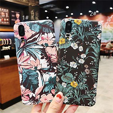 رخيصةأون Huawei أغطية / كفرات-غطاء من أجل Huawei Huawei P20 / Huawei P20 Pro / Huawei P20 lite مثلج / نموذج غطاء خلفي زهور قاسي الكمبيوتر الشخصي