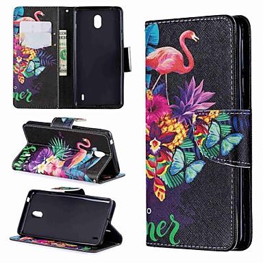 Недорогие Чехлы и кейсы для Nokia-Кейс для Назначение Nokia Nokia 7.1 / Nokia 5 / Nokia 5.1 Кошелек / Бумажник для карт / Защита от удара Чехол Животное / Мультипликация Твердый Кожа PU