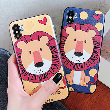 Недорогие Кейсы для iPhone-Кейс для Назначение Apple iPhone XS / iPhone XR / iPhone XS Max Защита от удара / Защита от пыли / Защита от влаги Кейс на заднюю панель Животное / Мультипликация Мягкий ТПУ