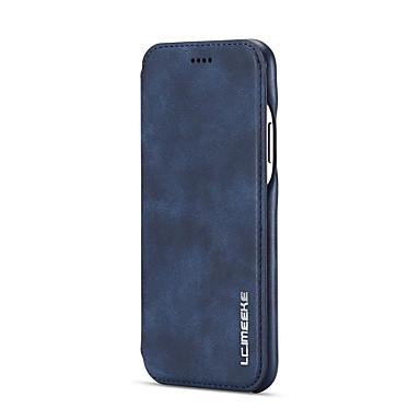 Недорогие Кейсы для iPhone 6-Кейс для Назначение Apple iPhone XS / iPhone XR / iPhone XS Max Защита от удара / Флип Чехол Однотонный Мягкий Кожа PU / силикагель