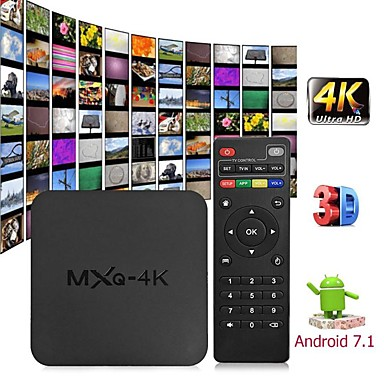 olcso Televízió dobozok-mxq 4k android 7.1 2.4g wifi dlna smart tv doboz rk3229 quad core 1g + 8g set-top box médialejátszó