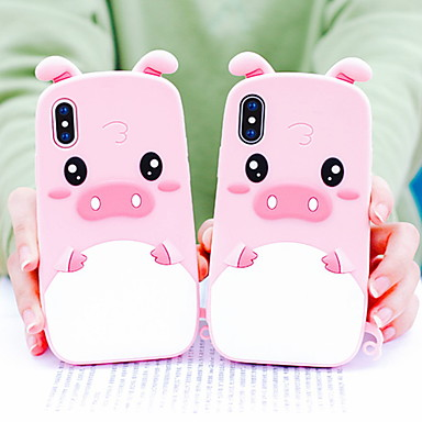 voordelige iPhone 5 hoesjes-hoesje Voor Apple iPhone XS / iPhone XR / iPhone XS Max Schokbestendig / Patroon Achterkant Cartoon Zacht Siliconen