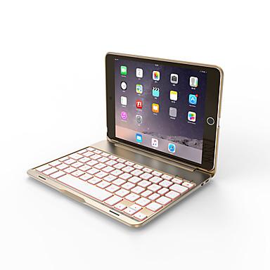 olcso iPad tokok-Bluetooth mechanikus billentyűzet / irodai billentyűzet újratölthető / fedő / vékony az ipad mini 4 / ios bluetooth3.0-hoz