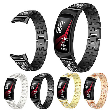 Недорогие Часы для Samsung-Ремешок для часов для Gear Fit Pro Samsung Galaxy Бабочка Пряжка Нержавеющая сталь Повязка на запястье