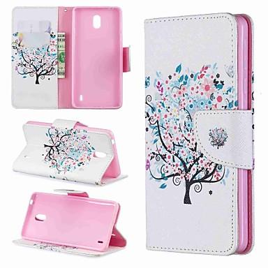 Недорогие Чехлы и кейсы для Nokia-Кейс для Назначение Nokia Nokia 8 / Nokia 7.1 / Nokia 6 Кошелек / Бумажник для карт / Защита от удара Чехол Мультипликация / дерево Твердый Кожа PU