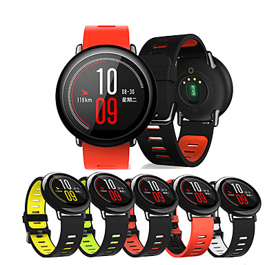 cheap Watch Bands for Xiaomi-Watch Band for Huami Amazfit A1602 / Huami Amazfit Pace Watch / Huami Amazfit Stratos Smart Watch 2/2S Xiaomi Sport Band / Classic Buckle Silicone Wrist Strap