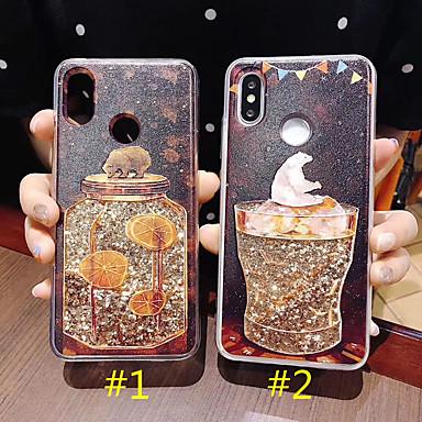 Недорогие Кейсы для iPhone X-чехол для яблока iphone xs max / iphone 8 plus diy / pattern / течет жидкость задняя крышка блестящий блеск жесткий ПК / ТПУ для iphone 7 / iphone 6 plus / iphone 6s / iphone xs / iphone xr