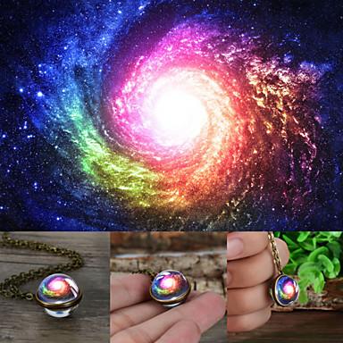 رخيصةأون القلائد-رجالي نسائي ألوان متعددة عقد ستاردست مرحلة القمر عتيق عارضة / رياضي زجاج كروم برونز 50+5 cm قلادة مجوهرات 1PC من أجل هدية