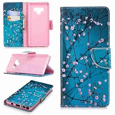 Недорогие Чехлы и кейсы для Galaxy Note-Кейс для Назначение SSamsung Galaxy Note 9 / Note 8 Кошелек / Бумажник для карт / со стендом Чехол дерево Твердый Кожа PU