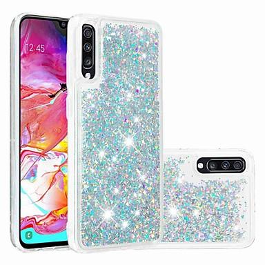 رخيصةأون حافظات / جرابات هواتف جالكسي A-غطاء من أجل Samsung Galaxy Galaxy A7(2018) / A3 (2017) / A5 (2017) سائل متدفق / شفاف غطاء خلفي بريق لماع ناعم TPU