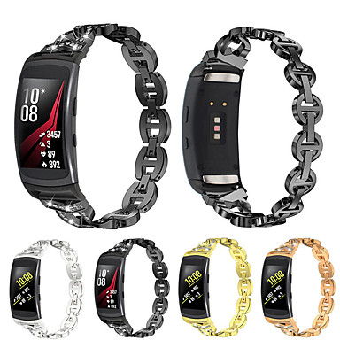 voordelige Horlogebandjes voor Samsung-Horlogeband voor Gear Fit Pro Samsung Galaxy Butterfly Buckle Roestvrij staal Polsband