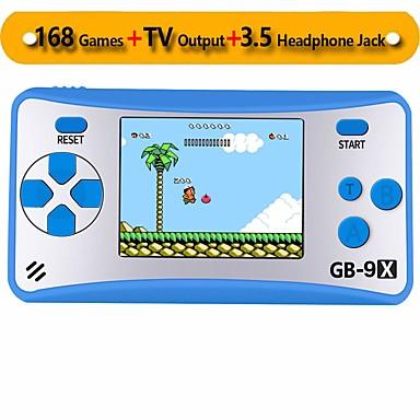 olcso Játékkonzolok-gb-9x hordozható kézi játékkonzol gyerekek arcade rendszer játékkonzoljai videojáték-lejátszó 2,5 színes lcd és 168 klasszikus retro játékok beépített nagy születésnapi ajándék gyerekeknek
