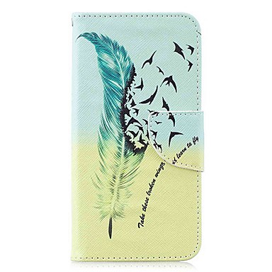 Недорогие Чехлы и кейсы для Galaxy S-Кейс для Назначение SSamsung Galaxy S9 / S9 Plus / S8 Plus Кошелек / Бумажник для карт / со стендом Чехол  Перья Твердый Кожа PU