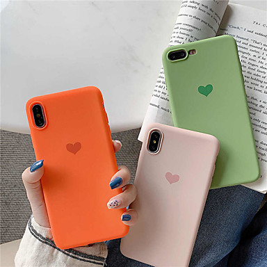 Недорогие Кейсы для iPhone-чехол для яблока iphone xr / iphone xs max pattern / матовое задняя крышка сердце мягкое тпу для iphone 6 6 плюс 6s 6s плюс 7 8 7 плюс 8 плюс x xs