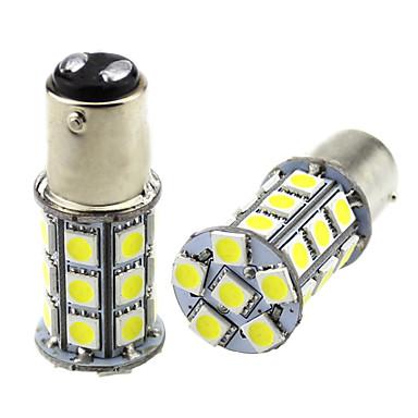 ieftine Lumini de Ceață Mașină-2pcs 1157 bay15d condus becuri autoturisme 3w 24v smd 5050 27 lampă led pentru semnalizator lumina ceață lumina cozii lumina spate ceață
