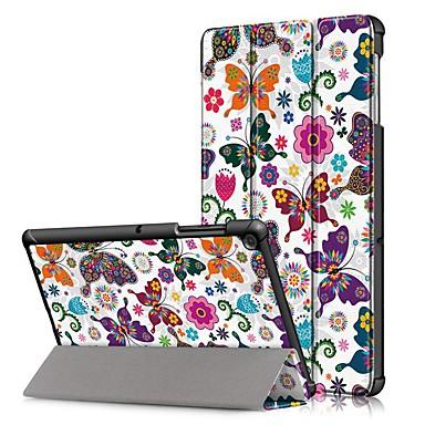 Недорогие Чехол для планшета Samsung-Кейс для Назначение SSamsung Galaxy Samsung Tab S5e T720 10,5 / Samsung Tab A 10.1 (2019) T510 Защита от удара / Флип / Оригами Чехол Бабочка Твердый Кожа PU