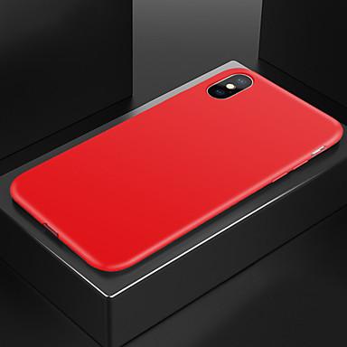 voordelige iPhone-hoesjes-hoesje Voor Apple iPhone XS / iPhone XR / iPhone XS Max Schokbestendig Achterkant Effen Zacht Siliconen
