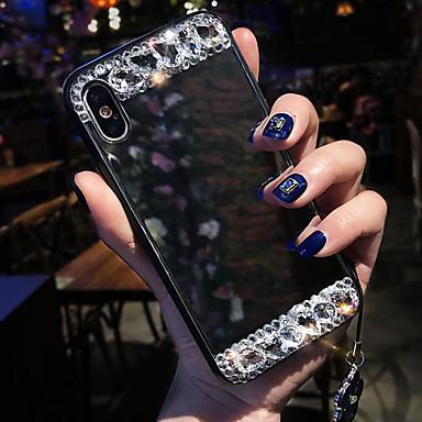 voordelige iPhone-hoesjes-hoesje Voor Apple iPhone XS / iPhone XR / iPhone XS Max Schokbestendig / Strass / Spiegel Achterkant Geometrisch patroon Zacht Siliconen