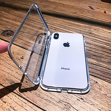 hoesje voor apple iphone xs max / iphone x magnetisch / transparant full body koffers stevig gekleurd hard metaal voor iphone 6 / iphone 6 plus / iphone 6s