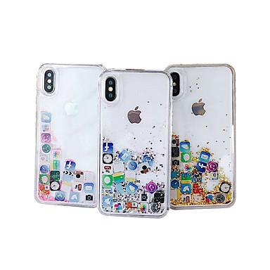 voordelige iPhone-hoesjes-hoesje voor apple iphone xs max / iphone 8 plus diy / patroon / vloeiende vloeistof achterkant glitter glitter hard pc / tpu voor iphone 7/7 plus / 8/6/6 plus / xr / x / xs