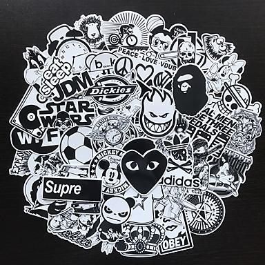 أسود Car Stickers كرتون ملصقات الباب / ملصقات السيارات الذيل / ملصقات الزجاج الأمامي كارتون ملصقات