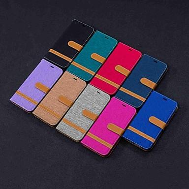 Недорогие Чехлы и кейсы для LG-Кейс для Назначение LG LG Stylo 5 / LG K40 / LG K10 2018 Кошелек / Бумажник для карт / со стендом Чехол Плитка Твердый текстильный / LG G6