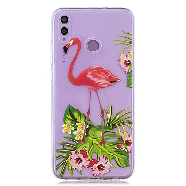 ราคาถูก เคสและซองสำหรับ Huawei Mate-กรณีสำหรับหัวเว่ยเกียรติ 8x / หัวเว่ย p สมาร์ท (2019) รูปแบบ / ใสปกหลังดอกไม้ f lamingo soft tpu สำหรับ mate20 lite / mate10 lite / y6 (2018) / p20 lite / nova 3i / p สมาร์ท / p20 pro