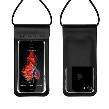 Недорогие Универсальные чехлы и сумочки-Кейс для Назначение универсальный Универсальный Защита от влаги Водонепроницаемый мешочек Однотонный Твердый Кожа PU