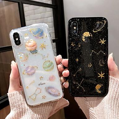 voordelige iPhone-hoesjes-hoesje Voor Apple iPhone XS / iPhone XR / iPhone XS Max Patroon / Glitterglans Achterkant Hemel / Glitterglans Zacht Siliconen
