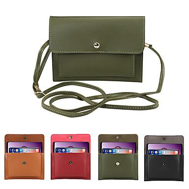 Недорогие Универсальные чехлы и сумочки-6.3-дюймовый чехол для универсального держателя карты сумка сплошной цвет мягкий пу сплошной цвет карман для мобильного телефона