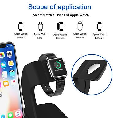olcso Apple Watch tartók-2 in 1 qi vezeték nélküli töltőállvány almaóra töltőállvány iphone x / 8/8 és almaóra sorozathoz 321
