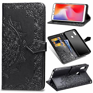 رخيصةأون Xiaomi أغطية / كفرات-غطاء من أجل Xiaomi Xiaomi Mi Play / Xiaomi Mi Max 3 / Xiaomi Mi 8 Lite محفظة / حامل البطاقات / قلب غطاء كامل للجسم زهور قاسي جلد PU / TPU