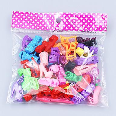 olcso Barbie baba ruházat-Baba cipő 20 pcs mert Barbie Poliészter Cipők mert Lány Doll Toy