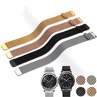 Недорогие Часы для Samsung-20мм 22мм ремешок для samsung galaxy watch active 42мм 46мм механизм sport s2 s3 миланская петля для amazfit bip 18мм huawei watch1 ремешок