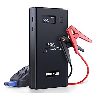 olcso Szerszámok & felszerelések-autós ugrásindító dinkalen 1500a akkumulátor ugrásindító (akár 8.0l gáz vagy 6.0l dízel) usb gyors töltéssel 3.0 12v hordozható autós akkumulátor ugrásindító