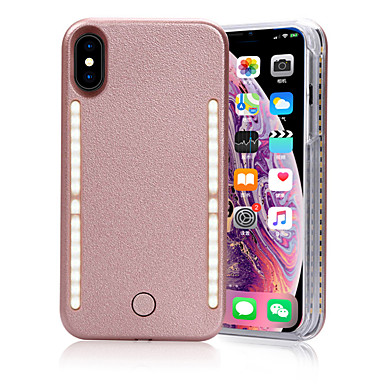 Недорогие Кейсы для iPhone 6 Plus-iphone x / xs / xs max / xr / 7 / 7s / 8 / 8s плюс чехол для телефона, многофункциональная передняя и задняя светодиодная светящаяся вспышка