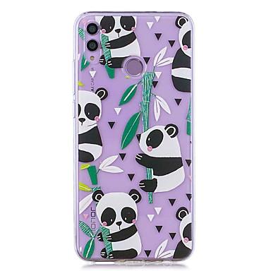 voordelige Huawei Mate hoesjes / covers-case voor huawei honor 8x / huawei p smart (2019) patroon / transparante achterkant bamboe panda zachte tpu voor mate20 lite / mate10 lite / y6 (2018) / p20 lite / nova 3i / p smart / p20 pro