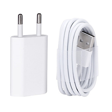 cheap iPod Accessories-USB Wall Charger Cable with 8 Pin Data for iPhone/7/6/6S plus/5/5s/5C/se