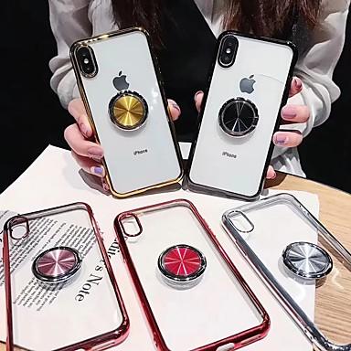 voordelige iPhone X hoesjes-hoesje voor apple iphone xr / iphone xs max transparant / ringhouder achterkant transparent soft tpu voor iphone x / xs / 6/6 plus / 6s / 6s plus / 7/7 plus / 8/8 plus