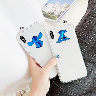 voordelige iPhone-hoesjes-hoesje voor apple iphone xr / iphone xs max patroon / transparante achterkant cartoon soft tpu voor 6 6 plus 6s 6 splus 7 8 7plus 8 plus x xs