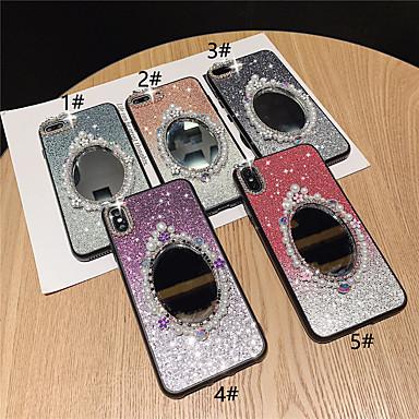 Недорогие Кейсы для iPhone 7-чехол для яблока iphone xr / iphone xs макс блестящий блеск / зеркало / горный хрусталь задняя крышка цветной градиент жесткий тпу для iphone x xs 8 8plus 7 7plus 6 6plus 6s 6s plus
