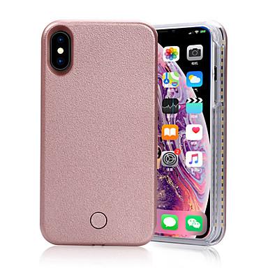 Недорогие Кейсы для iPhone X-творческий чехол для телефона с селфи из светодиодов для iphone х / х с / хр / хс макс / 7 / 7s / 8 / 8s плюс вечеринка на открытом воздухе желтый цвет подарок