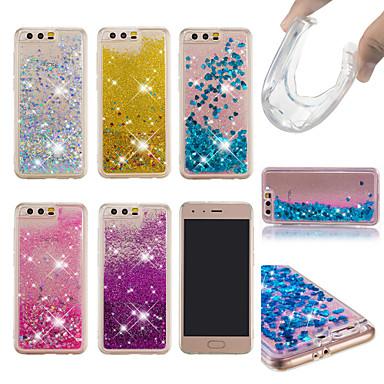 voordelige Huawei Y-serie hoesjes / covers-hoesje Voor Huawei Huawei Honor 10 / Honor 9 / Huawei Honor 9 Lite Stromende vloeistof / Glitterglans Achterkant Glitterglans Zacht TPU