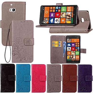 Недорогие Чехлы и кейсы для Nokia-Кейс для Назначение Nokia Nokia 9 PureView / Nokia 7 Plus / Nokia 7.1 Кошелек / со стендом / Флип Чехол Однотонный / Бабочка / Цветы Твердый Кожа PU