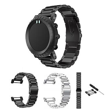 voordelige Smartwatch-accessoires-roestvrijstalen band voor suunto kern armband polsband regelbare vervanging